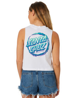 WHITE WOMENS CLOTHING SANTA CRUZ SINGLETS - SC-WTC8640WHT