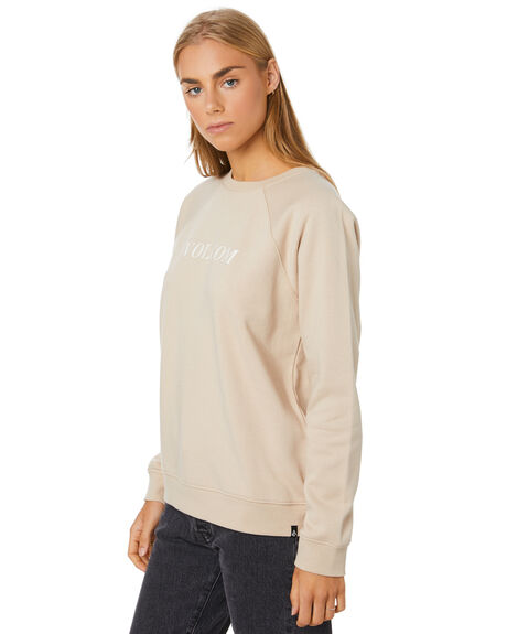 OXFORD TAN WOMENS CLOTHING VOLCOM JUMPERS - B4612075-OXTAN