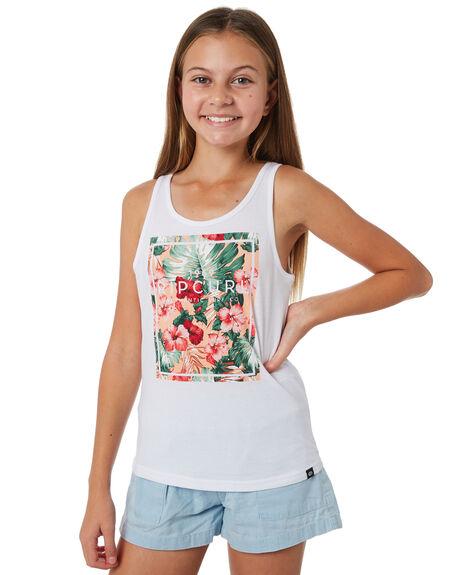 WHITE KIDS GIRLS RIP CURL TOPS - JTEDM11000