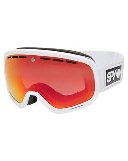 MATTE WHITE BOARDSPORTS SNOW SPY GOGGLES - 313013396869MWHT