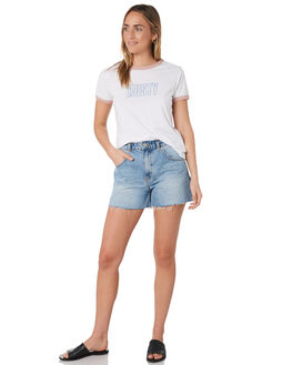 WHITE WOMENS CLOTHING RUSTY TEES - TTL1036WHT