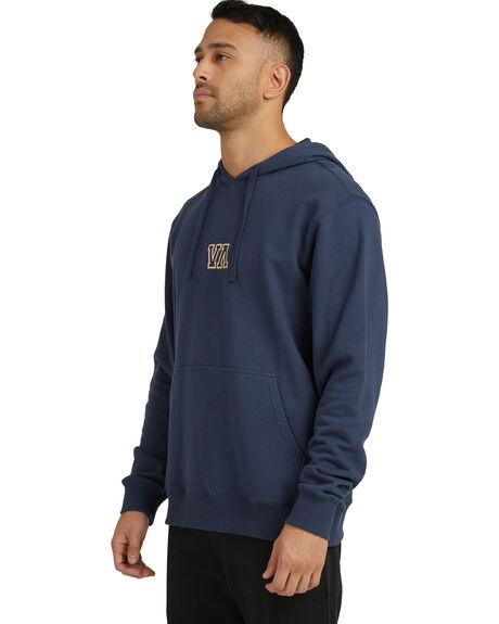 MOODY BLUE MENS CLOTHING RVCA HOODIES + SWEATS - R118155-MDY