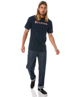 NAVY MENS CLOTHING BRIXTON TEES - 06870NAVY