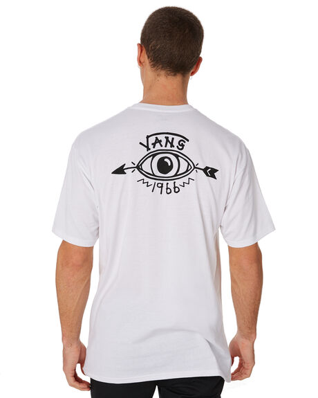 WHITE MENS CLOTHING VANS TEES - VNA3HBRWHTWHT