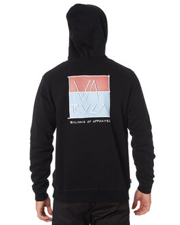 BLACK MENS CLOTHING RVCA JUMPERS - R193154BLK