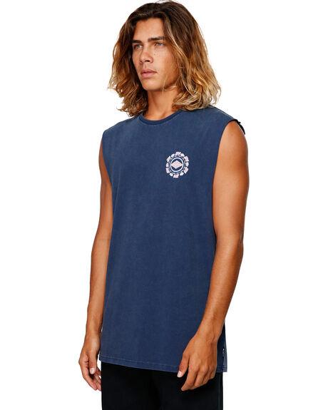 NAVY MENS CLOTHING BILLABONG SINGLETS - BB-9592504-NVY