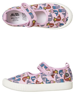 PINK KIDS GIRLS WALNUT THONGS - CLASSICMJPINK
