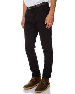 BLACK MENS CLOTHING ACADEMY BRAND PANTS - 17W100BLK