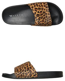 LEOPARD WOMENS FOOTWEAR RUSTY SLIDES - FOL0194-LEO