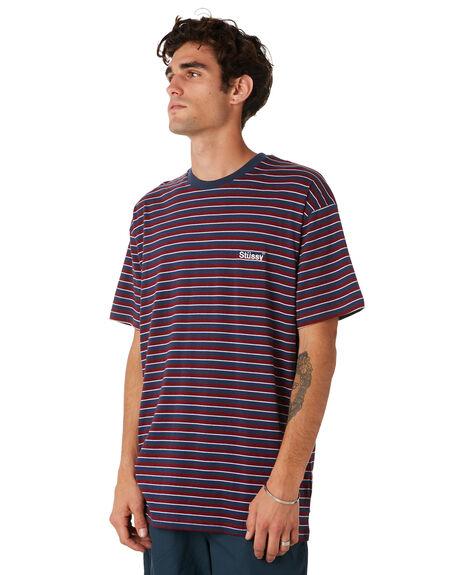 PLUM MENS CLOTHING STUSSY TEES - ST092102PLM