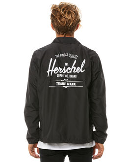 BLACK WHITE MENS CLOTHING HERSCHEL SUPPLY CO JACKETS - 15002-00053