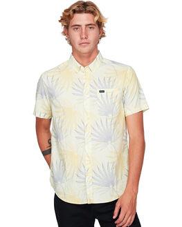 PALE YELLOW MENS CLOTHING RVCA SHIRTS - RV-R392182-PAY