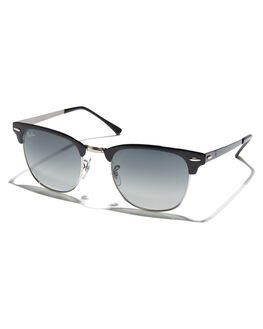 SILVER TOP BLACK MENS ACCESSORIES RAY-BAN SUNGLASSES - 0RB3716SLVBK