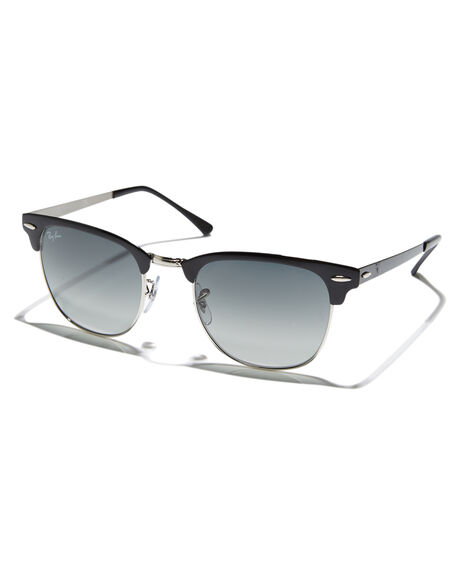 d8f38d92a9 Ray-Ban Clubmaster Flat Metal Sunglasses - Silver Top Black