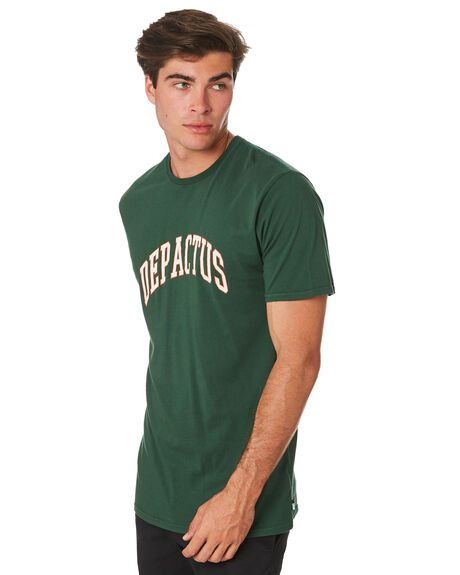 BOTTLE GREEN MENS CLOTHING DEPACTUS TEES - D5194006BTLGN
