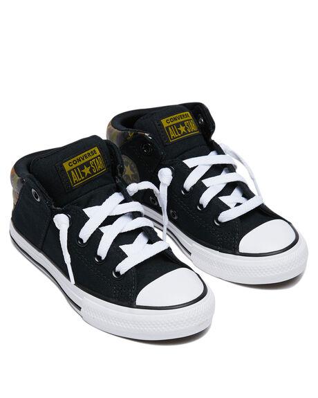 BLACK KIDS BOYS CONVERSE SNEAKERS - 668885CBLK