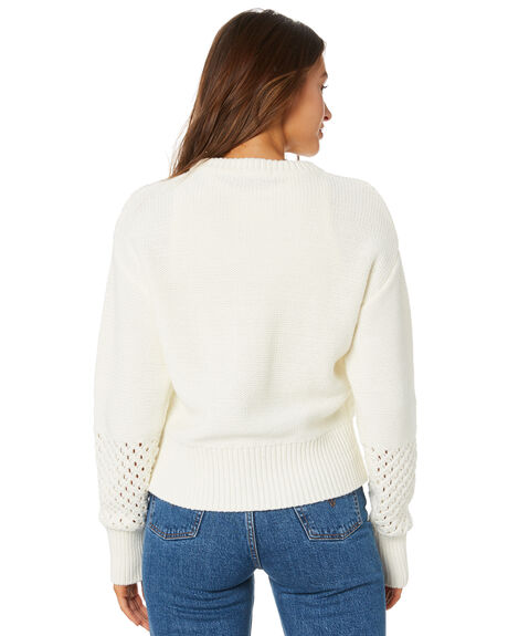 WHITE OUTLET WOMENS ELWOOD KNITS + CARDIGANS - W01403WHITE