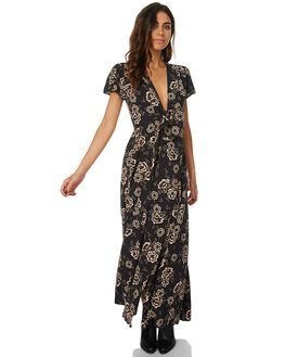 CAMELLIA WOMENS CLOTHING THE HIDDEN WAY DRESSES - H8173444CAMEL