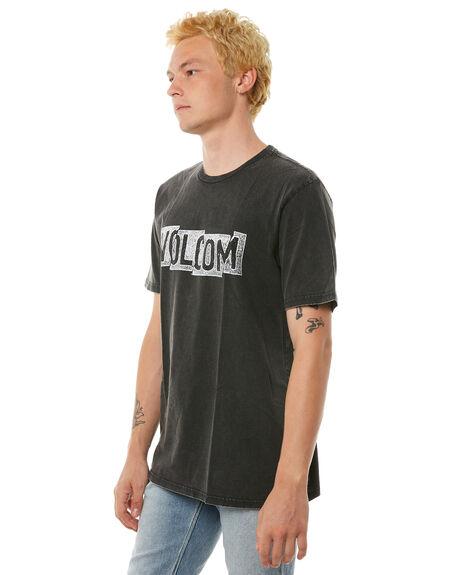 BLACK MENS CLOTHING VOLCOM TEES - A4311871BLK