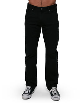 BLACK MENS CLOTHING RVCA PANTS - RV-R307280-BLK