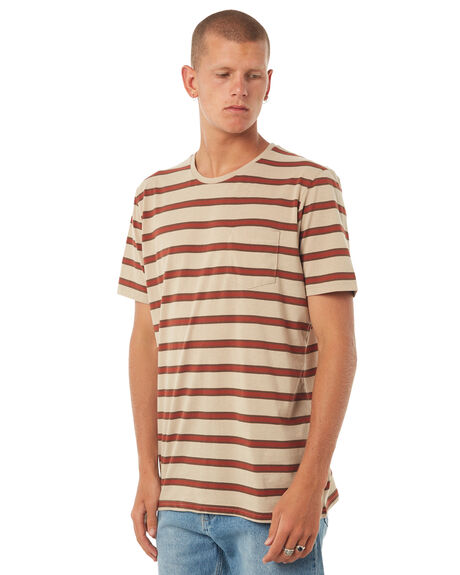 KHAKI MENS CLOTHING CAPTAIN FIN CO. TEES - CK174221KHA