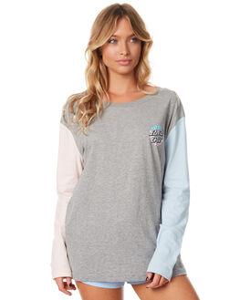 GREY HEATHER WOMENS CLOTHING SANTA CRUZ TEES - SC-WLC7361GREYH