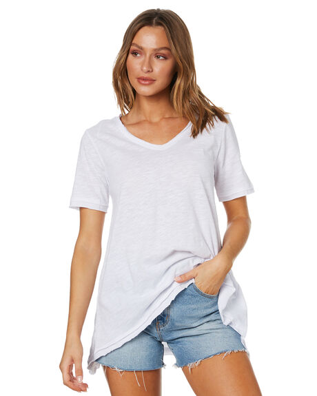 WHITE WOMENS CLOTHING BETTY BASICS TEES - BB281HS20WHT