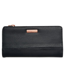 BLACK WOMENS ACCESSORIES RUSTY PURSES + WALLETS - WAL0711BLK
