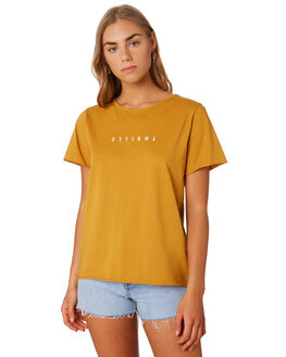 SUNLIGHT YELLOW WOMENS CLOTHING THRILLS TEES - WTS9-100KSYEL