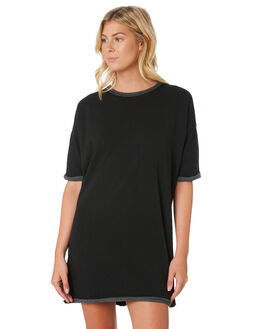 BLACK WOMENS CLOTHING SILENT THEORY DRESSES - 6010029-BLK
