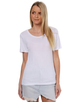 WHITE WOMENS CLOTHING THE HIDDEN WAY TEES - H8174003WHT