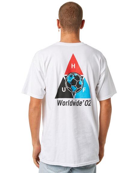 WHITE OUTLET MENS HUF TEES - TS00485-WHITE
