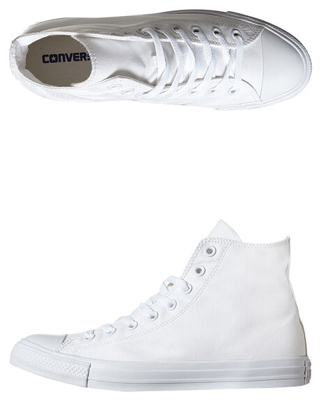 WHITE MONOCHROME MENS FOOTWEAR CONVERSE SNEAKERS - SS1U646WHTMM