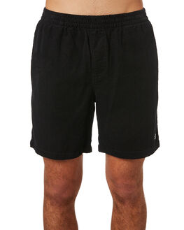 BLACK MENS CLOTHING STUSSY SHORTS - ST082601BLK