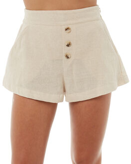 NATURAL WOMENS CLOTHING ZULU AND ZEPHYR SHORTS - ZZ1803NAT