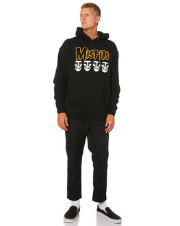 BLACK MENS CLOTHING OBEY JUMPERS - 111732053BLK
