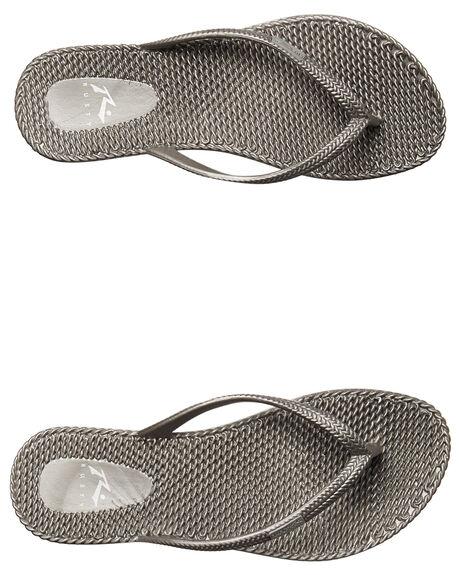 SILVER WOMENS FOOTWEAR RUSTY THONGS - FOL0317SIL