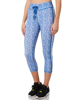 BLUE WHITE WOMENS CLOTHING THE UPSIDE ACTIVEWEAR - USW219011BLUWT