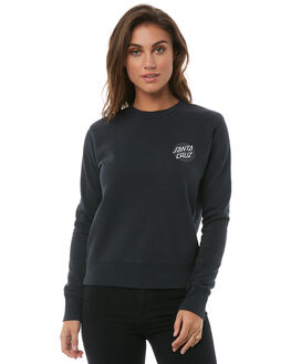 BLACK WOMENS CLOTHING SANTA CRUZ JUMPERS - SC-WFA8536BLK