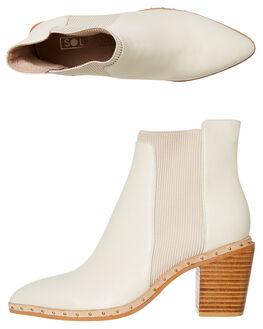 IVORY WOMENS FOOTWEAR SOL SANA BOOTS - SS201W310IVORY