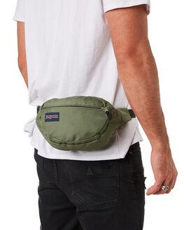 MUTED GREEN MENS ACCESSORIES JANSPORT BAGS + BACKPACKS - JS00TAN1-JS0HC