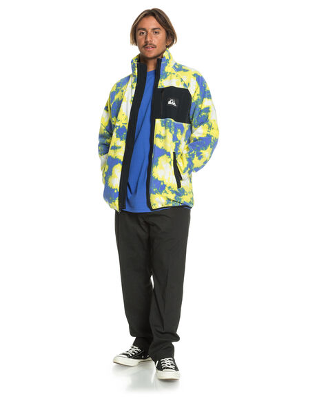TIE DYE POLAR MENS CLOTHING QUIKSILVER JUMPERS - EQYFT04100-YGW6