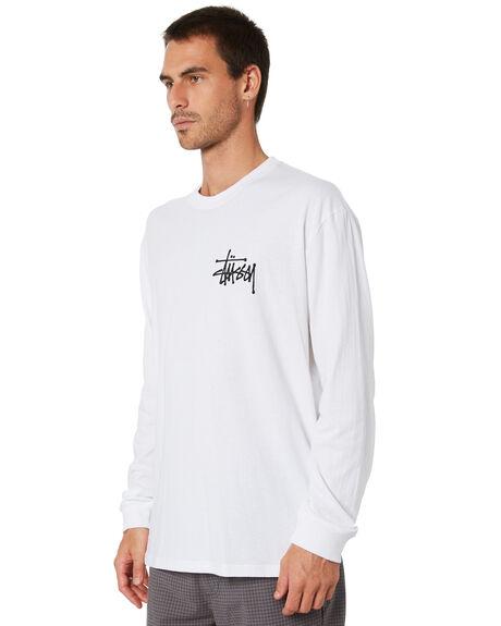 WHITE MENS CLOTHING STUSSY TEES - ST005010WHT