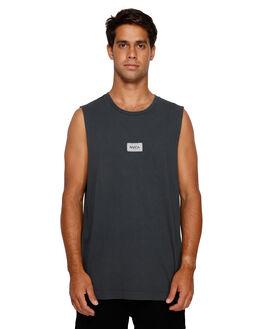 PIRATE BLACK MENS CLOTHING RVCA SINGLETS - RV-R191009-PTK
