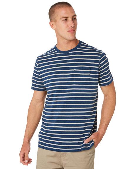 TERRAIN STRIPE BLUE MENS CLOTHING PATAGONIA TEES - 52790TESB