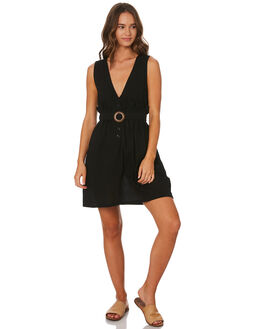 BLACK WOMENS CLOTHING LILYA DRESSES - CGRD85BLK