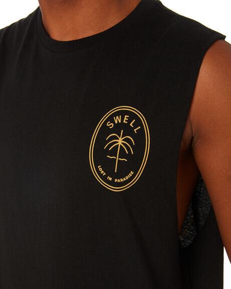 BLACK MENS CLOTHING SWELL SINGLETS - S5203271BLACK