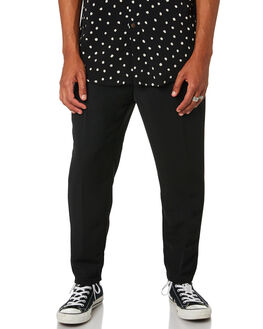 BLACK MENS CLOTHING THE PEOPLE VS PANTS - SS19055BLK
