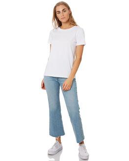 WHITE WOMENS CLOTHING BETTY BASICS TEES - BB252WHI