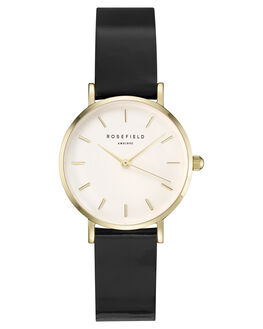 WHITE BLACK GOLD WOMENS ACCESSORIES ROSEFIELD WATCHES - SHBWG-H38WHBKG